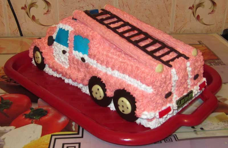 Торт пожарная машина фото